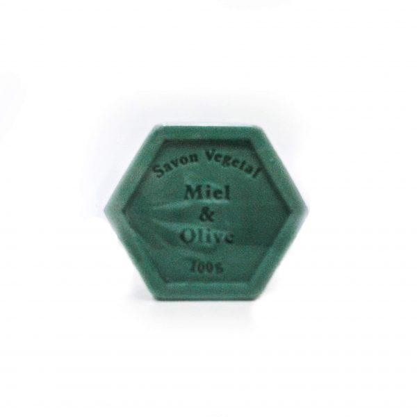 Jabón hexagoinal de miel y aceite de oliva