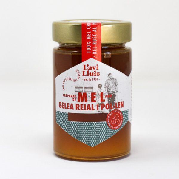 Mel amb gelea reial i pol·len