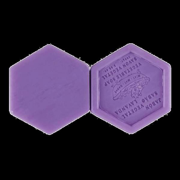 Jabón natural hexagonal de lavanda y miel