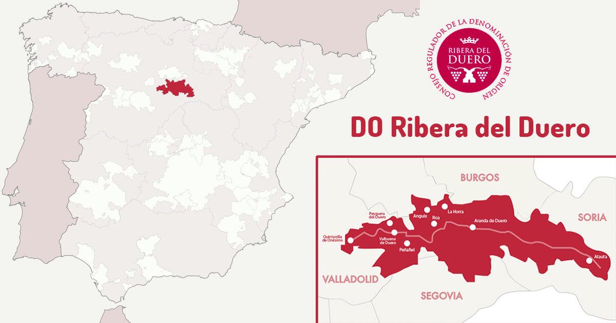 Mapa DO Ribera del Duero