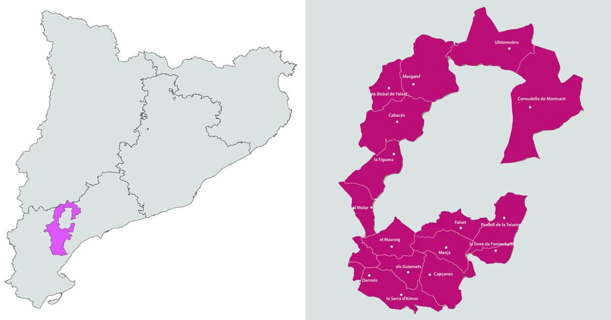 Mapa DO Montsant